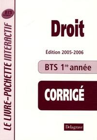 Droit BTS tertiaires 1e année - Livre du professeur Corrigé.pdf