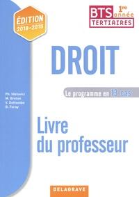 Philippe Idelovici et Magali Breton - Droit BTS tertiaires 1re année - Le programme en 13 cas Livre du professeur.