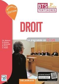Philippe Idelovici et Magali Breton - Droit BTS tertiaires 2e année - Le programme en 13 cas.