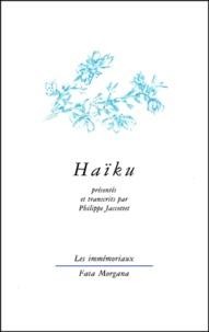 Philippe Jaccottet - Haïku.