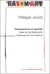 Philippe Junod - Transparence et opacité - Essai sur les fondements théoriques de l'art moderne, Pour une nouvelle lecture de Konrad Fiedler.