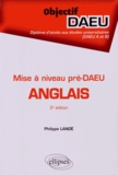 Philippe Lanoë - Anglais mise à niveau pré-DAEU.