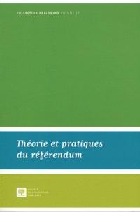 Philippe Lauvaux - Théorie et pratiques du référendum - Actes de la journée d'étude du 4 novembre 2011.