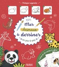 Philippe Legendre - Mes animaux à dessiner en pas à pas - Avec 1 livre et 20 cartes à offrir.