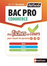 Philippe Lieury - Gérer animer vendre Bac Pro Commerce - Tout le cours en fiches.