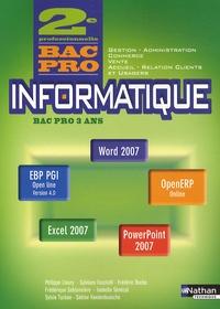 Informatique 2e Bac pro Gestion, Administration, Commerce, Vente, Accueil, Relation clients et usagers - Office 2007.pdf