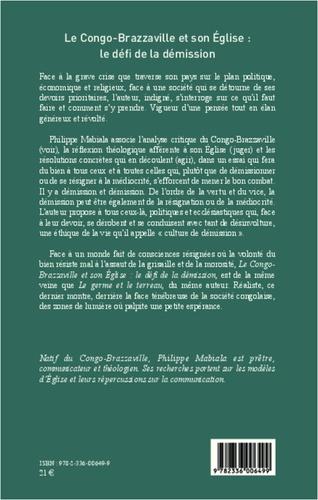Le Congo-Brazzaville et son Eglise : le défi de la démission