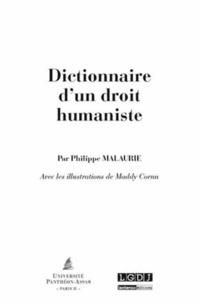 Philippe Malaurie - Dictionnaire d'un droit humaniste.