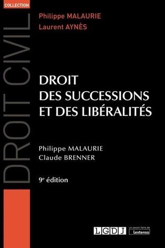 Droit des successions et des libéralités 9e édition
