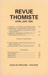 Philippe-Marie Margelidon - Revue Thomiste - N° 2/1995.