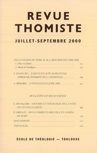 Philippe-Marie Margelidon - Revue Thomiste - N° 3/2000.