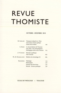 Philippe-Marie Margelidon - Revue Thomiste - N° 4/2010.