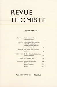 Philippe-Marie Margelidon - Revue Thomiste - N° 1/2013.