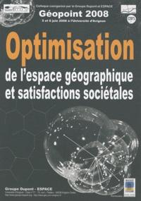 Philippe Martin - Géopoint 2008 - Optimisation de l'espace géographique et satisfactions sociétales. 1 Cédérom