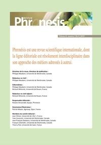 Lecture gratuite de livres en ligne télécharger Phronesis. Vol. 8, numéro 3 & 4 | 2019. Professionnalisation et ingénierie de formation entre résonances et divergences (Litterature Francaise)