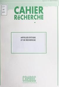 Philippe Moati et Annie Perraud - Articles d'étude et de recherche.