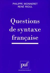 Pda ebooks téléchargements gratuits Questions de syntaxe française CHM