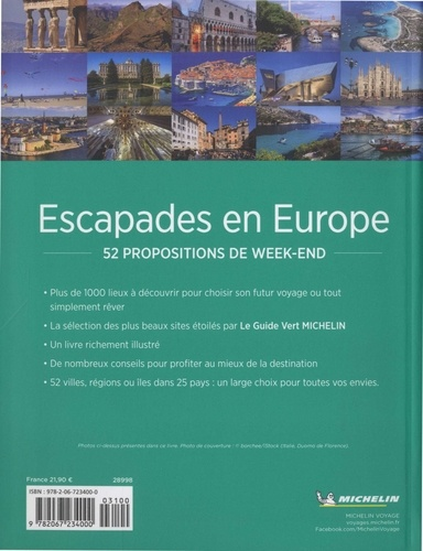 Escapades en Europe. 52 propositions de week-end  Edition 2019