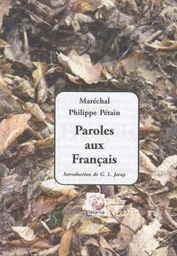 Goodtastepolice.fr Paroles aux Français - Messages et écrits (1934-1941) Image
