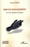 Philippe Poirier - Don et management - De la libre obligation de dialoguer.