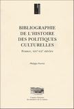 Philippe Poirrier - Bibliographie de l'histoire des politiques culturelles. - France, XIXe-XXe siècles.