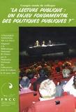Philippe Pujas - La lecture publique : un enjeu fondamental des politiques publiques ? - Colloque national de la FNCC.