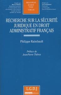 Era-circus.be Recherche sur la sécurite juridique en droit administratif français Image
