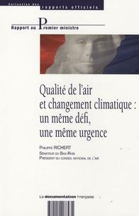 Philippe Richert - Qualité de l'air et changement climatique : un même défi, une même urgence.