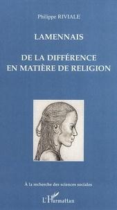 Lamennais - De la différence en matière de religion.pdf