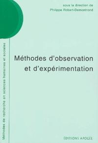 Philippe Robert-Demontrond - Méthodes d'observation et d'expérimentation.