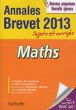 Philippe Rousseau - Maths Annales Brevet 2013 - Sujets et corrigés.