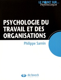 Philippe Sarnin - Psychologie du travail et des organisations.