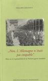 Philippe Simonnot - Non, l'Allemagne n'était pas coupable - Note sur la responsabilité de la Première Guerre Mondiale.