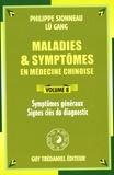 Philippe Sionneau et Gang Lü - Symptômes généraux, Signes clés du diagnostic.