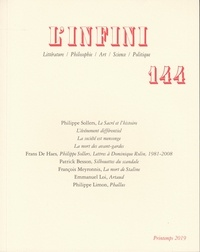 Philippe Sollers - L'Infini N° 144 : .