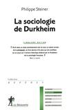 Philippe Steiner - La sociologie de Durkheim.
