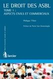 Philippe T'KINT et Pierre Van Ommeslaghe - Le droit des ASBL - Tome 1 : Aspects civils et commerciaux.