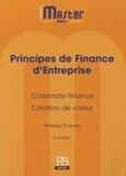 Philippe Thomas - Principes de finance d'entreprise - Corporate Finance, création de valeur.