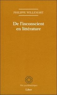 Philippe Willemart - De l'inconscient en littérature.