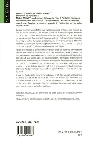 Droit des contrats administratifs 2e édition