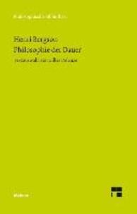 Philosophie der Dauer - Textauswahl von Gilles Deleuze.