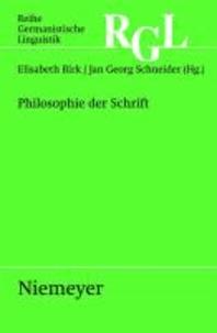 Philosophie der Schrift.