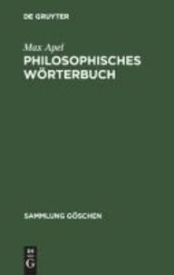 Philosophisches Wörterbuch.