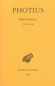 Photius - Bibliothèque - Tome 1, Codices 1-83.
