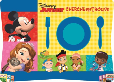 Disney Junior Cherche Et Trouve 76 Sets De Table Detachables