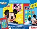 Pi Kids - La maison de Mickey - Un livre d'histoires et un téléphone-jouet.