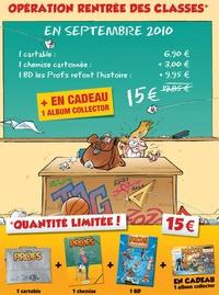 """Pica - Les Profs refont l'Histoire Tome 1 : Les Profs kit rentrée des classes - Avec un cartable, une chemise, un mini album """"Les inédits""""."""