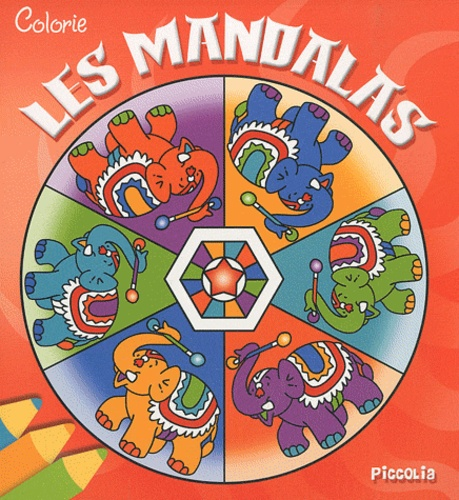 Piccolia - Colorie les mandalas (rouge).