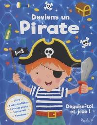 Galabria.be Deviens un pirate - Déguise-toi et joue! Avec 1 sabre gonflable, 1 gilet de pirate, 1 cache-oeil, 1 bandana Image
