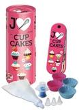 Piccolia - J'aime les cupcakes - Avec 4 caissettes à cupcake en silicone, 1 piston à cupcake, 1 poche pâtissière avec 4 douilles.